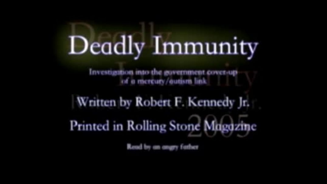 Deadly Immunity by Robert F