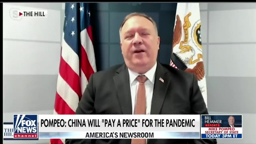 Pompeo says China will 'pay a price' for pandemic