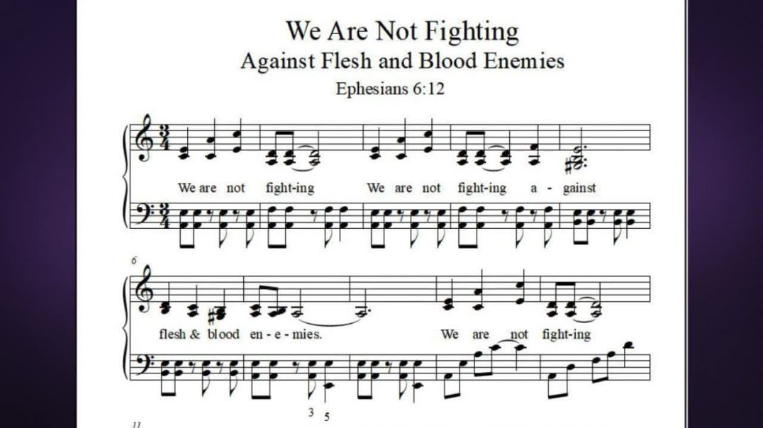 We Are Not Fighting Against Flesh and Blood Enemies - a Bible passage about spiritual warfare