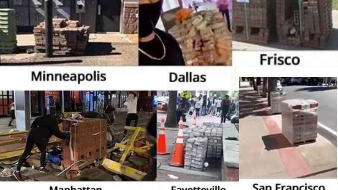STAGED! The Mysterious Pallets Of Bricks During The BLM Riots [Chinese subtitle] 美國黑命貴暴亂期間多次出現的神秘磚頭